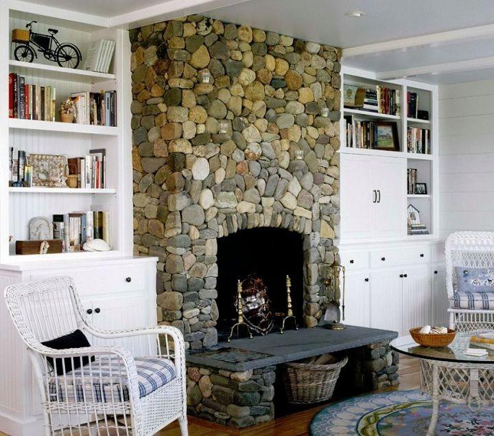 River Rock Fireplace On Nantucket Island Ma Chris