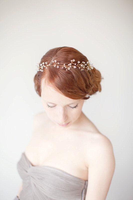 Wedding Hair Accessory Beaded Headband Bridal by sibodesigns