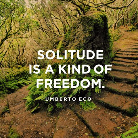 Solitude is a kind of freedom. — Umberto Eco