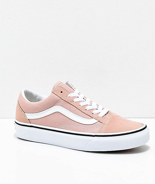 5b42288ac49d37 Vans Old Skool Mahogany Rose   True White Skate Shoes in 2019 ...