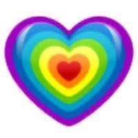 Regenbogenherz ---- Rainbow heart