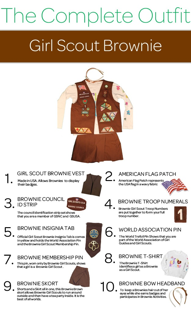 """""""The Complete Outfit"""" Girl Scout Uniform Series: Girl Scout Brownie"""