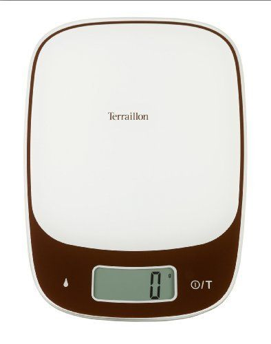 Terraillon Sensia Touch 11-Pound Electronic Kitchen Scale, Chocolate by Terraillon. $44.91. Touch sensitive buttons make for easy use. Measures in both pounds/ounces and kilograms/grams. Ensia touch 11-pound; Electronic scale is both functional and modern. Large easy to clean glass platform surface. Features dry/liquid measure and tare function. The Terraillon Sensia Touch 11-pound. electronic scale is both functional and modern. The touch sensitive buttons make for easy use and...