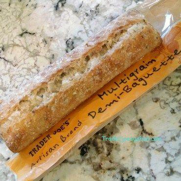 Trader Joe's Artisan Bread Multigrain Demi Baguette 6.2oz/176g $1.29 トレーダージョーズ アーティザンブレッド マルチグレイン デミバケット