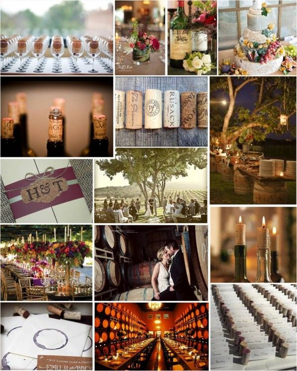 Wine glass escort cards