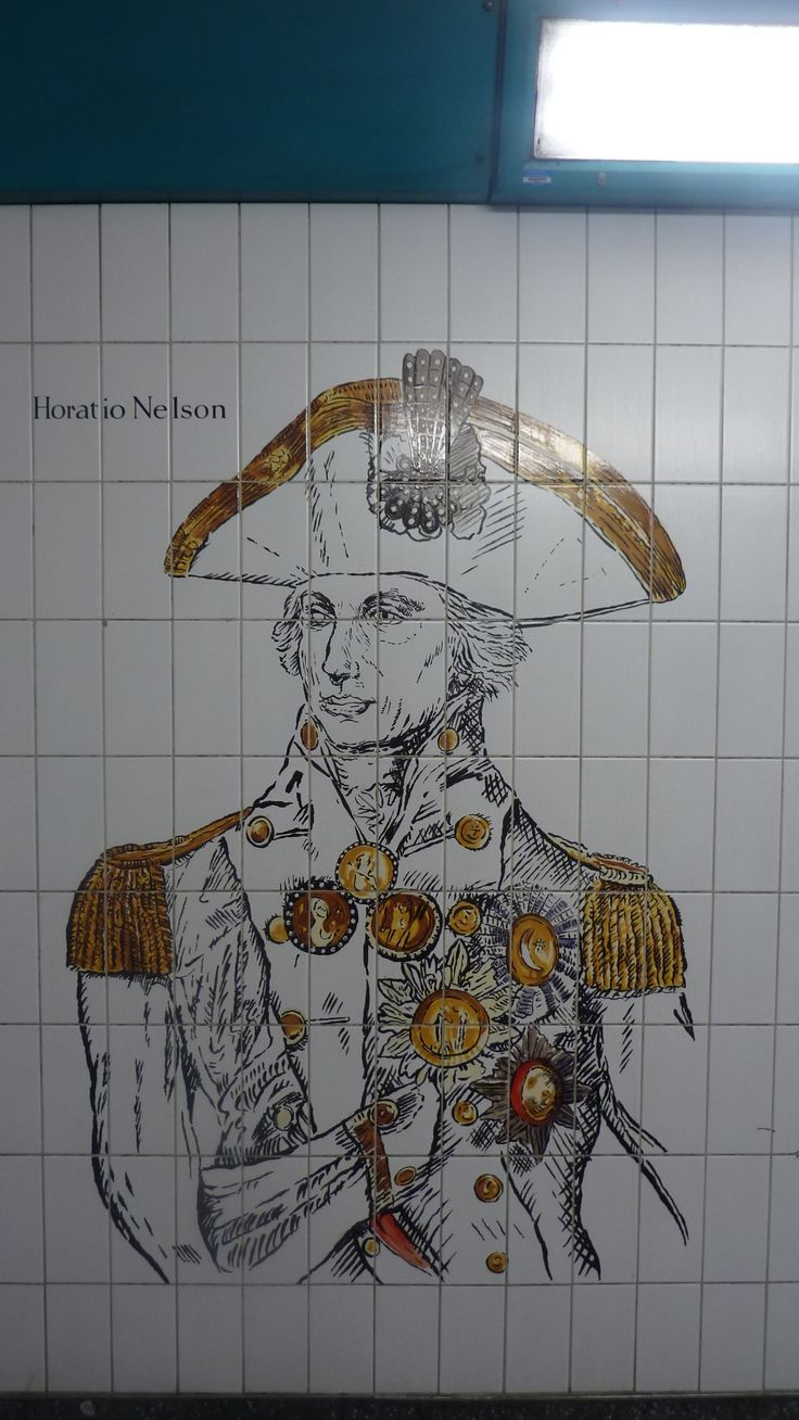 Nelson,  London Underground by Trafalgar square