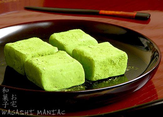 vegan matcha chocolates AND hojicha pralines with kinako