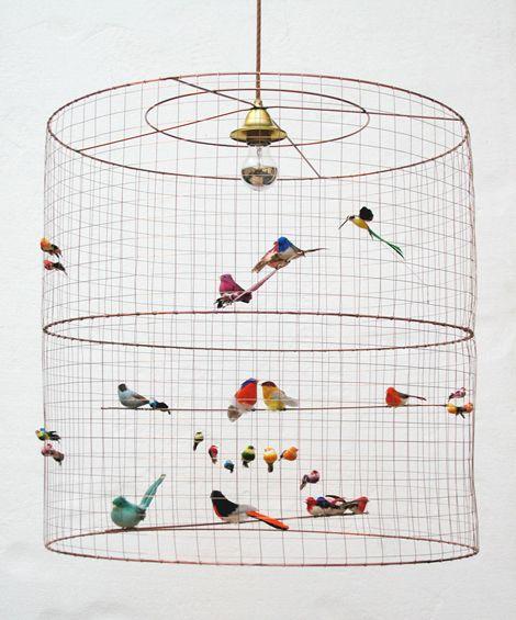 BirdCage Light: Decor, Lamps, Idea, Birds Cages, Lights Fixtures, Little Birds, Birdcages, Pendants Lights, Cages Lights
