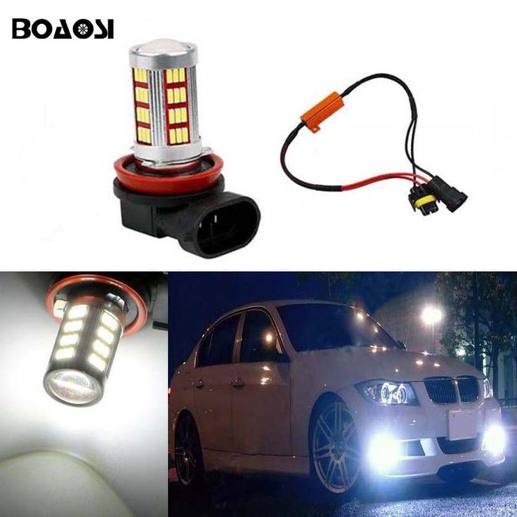 BOAOSI 1x H11 LED Car Fog Lights No Error For BMW E63 E64 E90 E91 E92 E93 328i 328xi 335i 335xi X5 E53 E70 E46 325i 330i X3 E83
