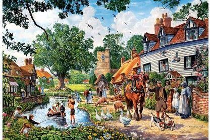 Trefl 26121 - Falusi idill - 1500 db-os puzzle