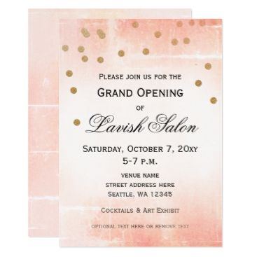 20 best business open house invitations images on pinterest shop pretty pink grand opening party invitation created by invitationboutique personalize it with photos text or purchase as is stopboris Gallery