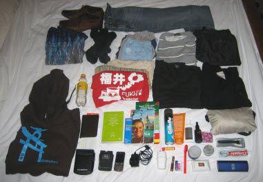 Tudo o que o Sam leva em sua mala