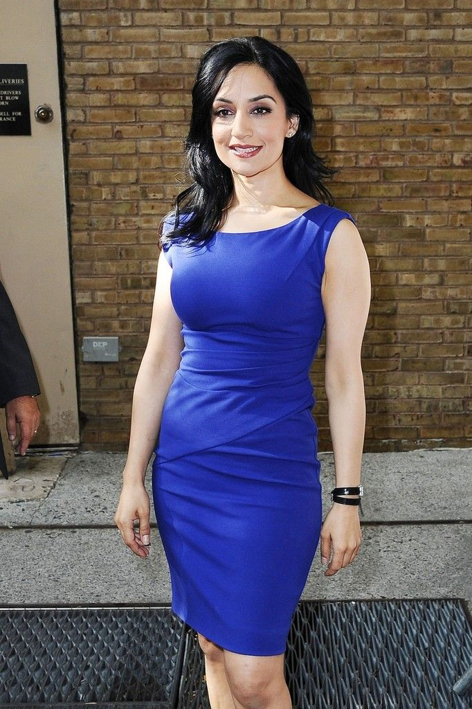 "Archie Panjabi Photos: Actress Archie Panjabi stops in at ""Live With Kelly"" in New York CIty"