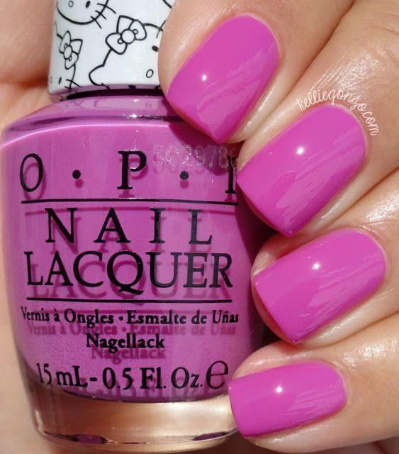 Hi cookies! Happy Friday! I'm excited today to show you the OPI Hello Kitty collection! I've always adored Hello Kitty and coming together with arguably my (and the world's) favorite nail polish brand