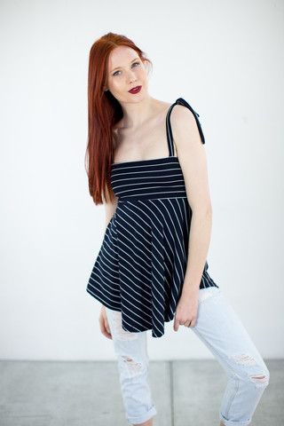 Tank Top Stephy Navy Stripes