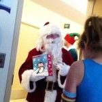 Former President George W. Bush dressed in a Santa suit to visit a Dallas children's hospital and hand out toys to patients who have to spend Christmasin the hospital, the Daily Mail reports.    O
