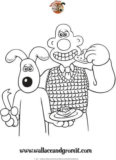 21 best Wallace and gromit images on Pinterest  Colouring pages