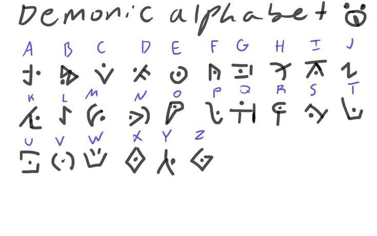 Demonic alphabet cool huh
