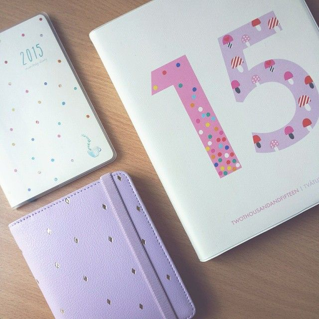 130315; my kikki.K planners collection I am using this year. Scored the big day planner for $10  Its so beautiful. I posted some pictures of it on my blog (milkberri.weebly.com) if you want to see a little bit more. Love the small thin monthly diary. Ive had one 4 years in a row now. Its super portable which is what i love about it.  #kikkik #planner #diary #2015 #todo #filofax #sale #stationery #cute #dayononepage #binder #organize #plan