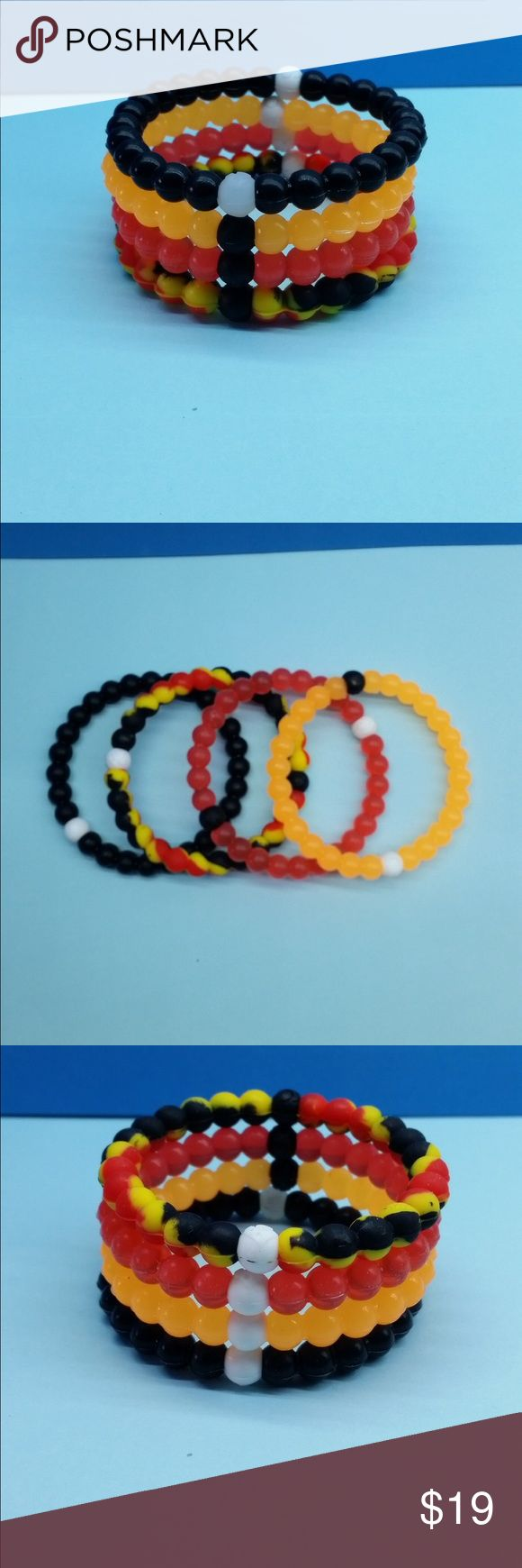"Set of 4 silicone bracelets SMALL Trend 2016 !!! Beautiful silicone bracelet is waterproof, elastic, beautiful, in the end !!! Excellent quality !!! You can choose any color and any combination for any clothes. Black bead contains inside mud from the Dead Sea. Buy it and be happy !!! Available in 4 dimensions. Circumference of wrist:6 ""- Small,6.5 ""- Medium,7 ""- Large,7.5 ""- XLarge Jewelry Bracelets"