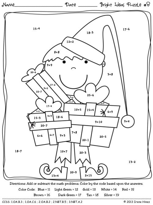 Christmas math, Maths puzzles and Bright ideas on Pinterest