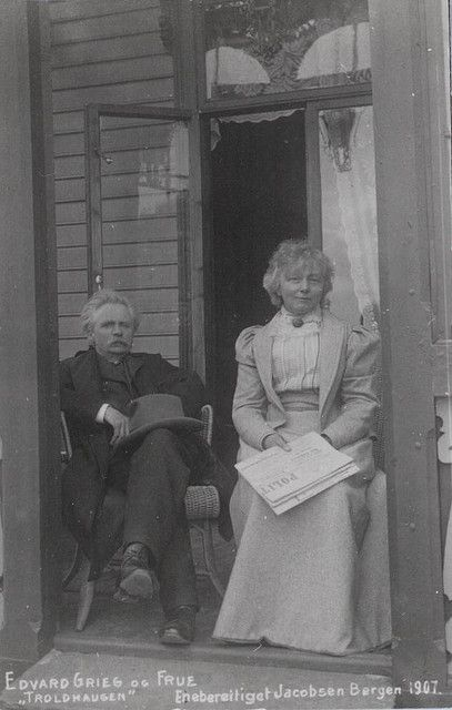 [Edvard and Nina Grieg at Troldhaugen] by Bergen Public Library, via Flickr