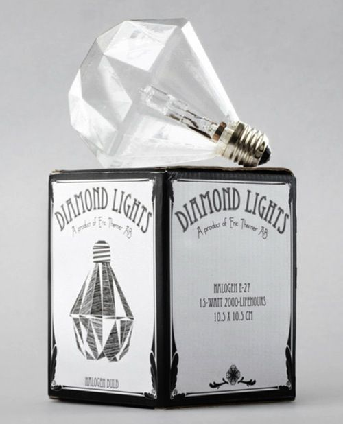 Diamond light bulb by Eric Therner