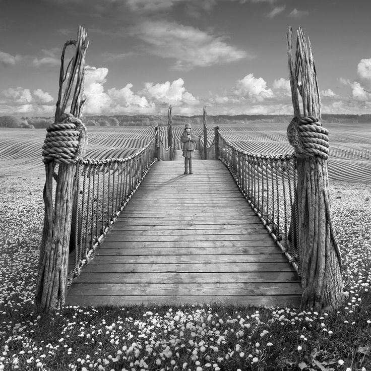 The Bridge by ~Kleemass ©2012: Surrealist Photography, Dariusza Klimczaka, Dariusz Klimczak, Photography Digital Art, Photo Art Thinking, Suspense Bridges, Inspiration Ii, Images Photography, Photography Inspiration