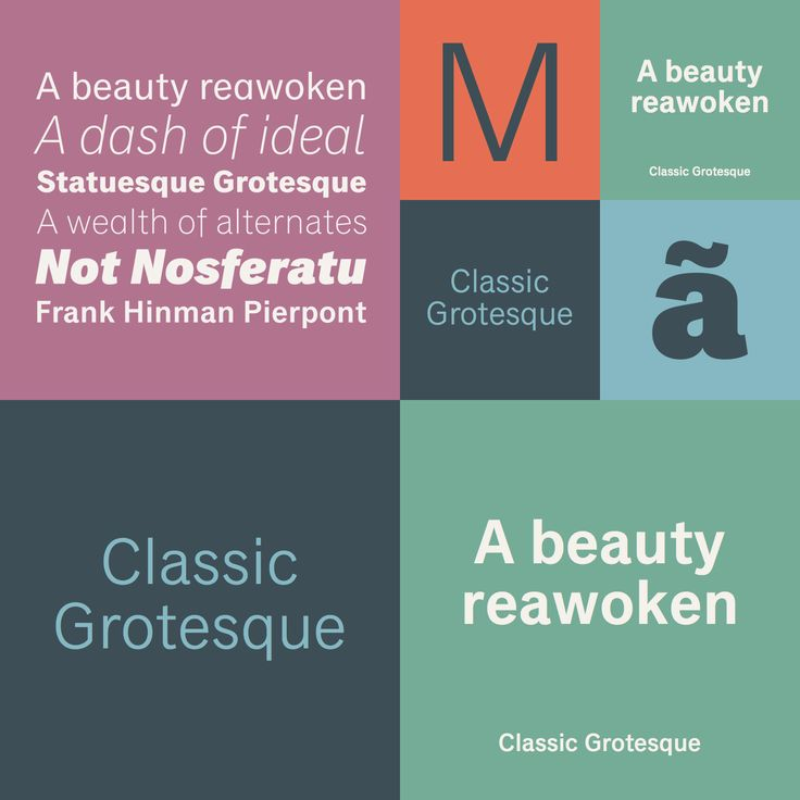 Classic Grotesque font family by Rod McDonald for Monotype.
