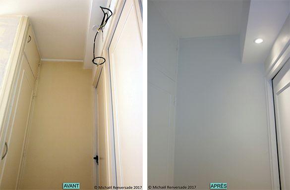 Dégagement Remise en état des murs avec un voile de rénovation - peinture pour plafond fissure