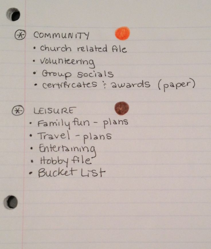 {the weekend organizer} creating simplified + organized personal reference files « Fabulously Organized Home