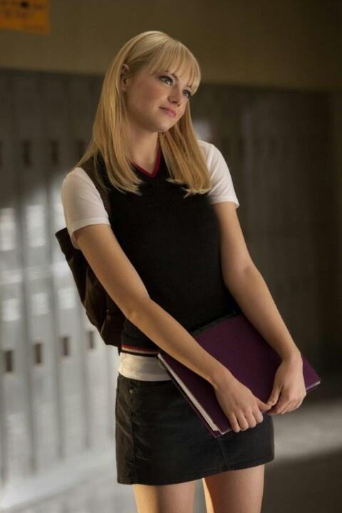 Emma Stone as Gwen Stacy   Beautiful women.   Pinterest
