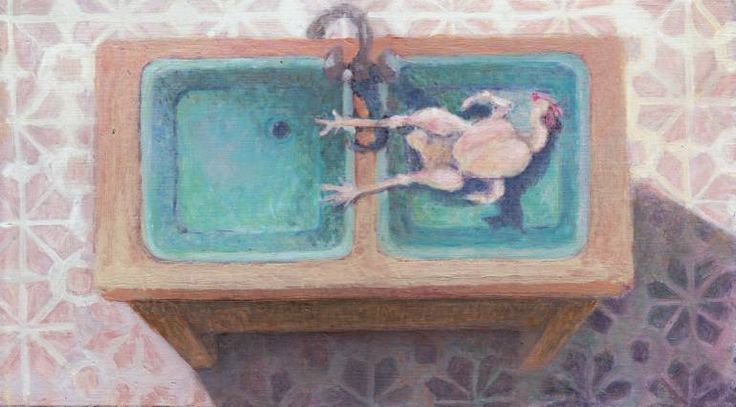 Chicken in Sink, Ilona Istvanffy