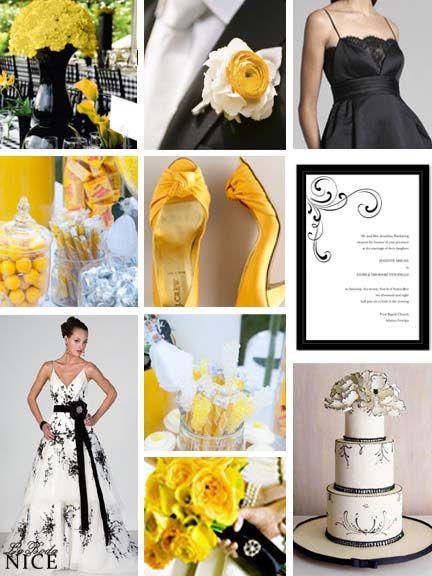 Boda Amarillo / Blanco / Negro Yellow / Black / White Wedding