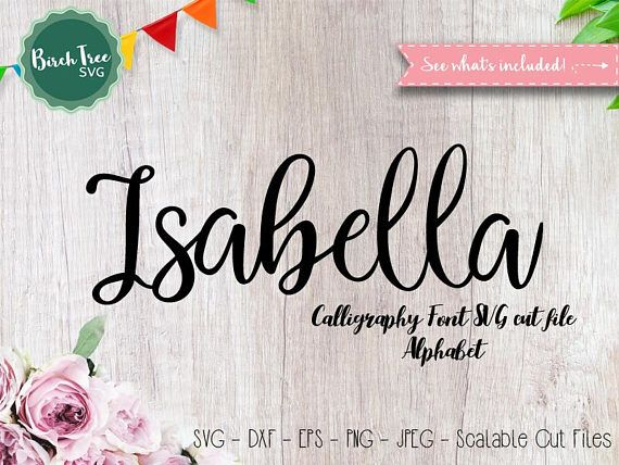 Download Alphabet Font SVG Cutfile, Modern Calligraphy SVG ...