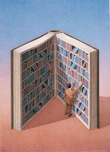 Books help usa... /Los libros nos ayudan a… (ilustración de Pablo Auladell) bibliolectors: