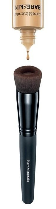 THIS IS GENIUS!!!! For no-mess foundation application: Drop 1-2 drops of foundation into this unique brush reservoir. Buff onto skin in circular motions.