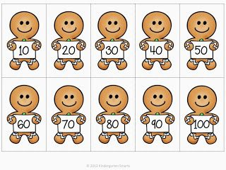 Gingerbread skip counting FREEBIE