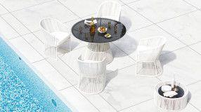 Tavolo in fibra sintetica per piscina Tibidabo