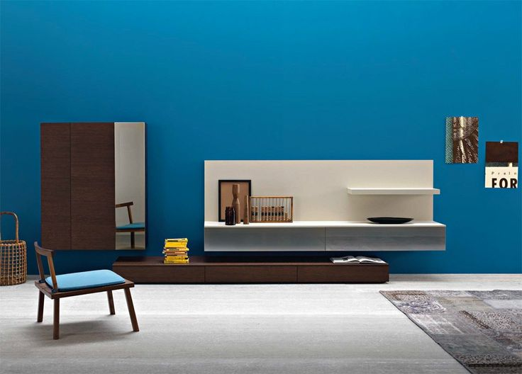 Affianco Wall Unit II By Sangiacomo, Italy In Brown Oak Veneer And Matt  Canapa Lacquer