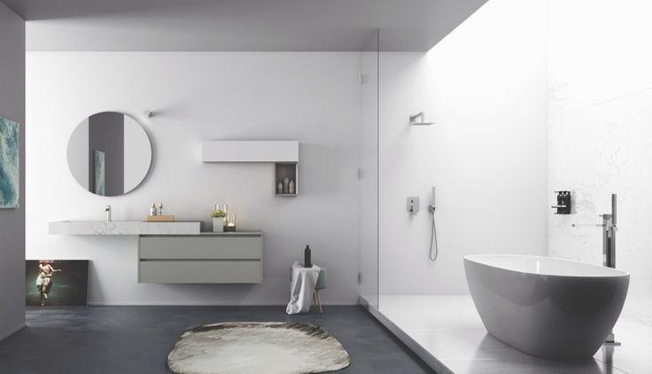 la vista completa, sistema gola preview, gres porcellanato, marmo calacatta #arredobagno #bathroom #design
