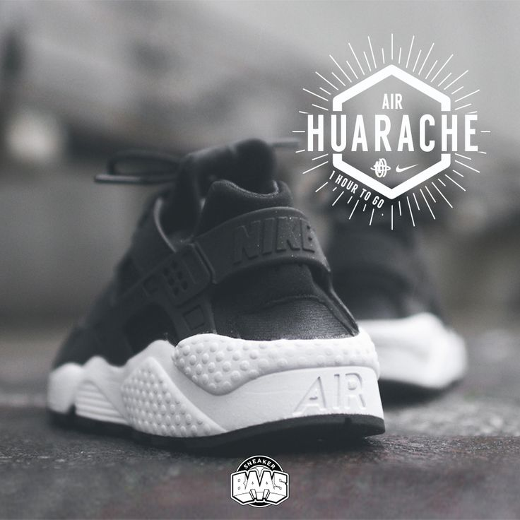 "#nike #nikeair #huarache #huaracheblack #sneakerbaas #baasbovenbaas  Nike Wmns Air Huarache ""Black & White"" - One hour to go! - Priced at 129.95 Euro  For more info about your order please send an e-mail to webshop #sneakerbaas.com!"