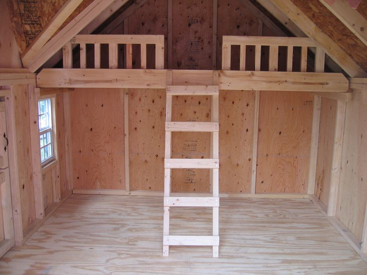 Outdoor playhouse plans with loft woodworking projects for Playhouse with garage plans