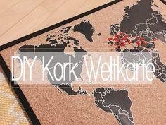 DIY Weltkarte auf Kork Pinnwand Do it yourself World map pinning www.theblondelion.com