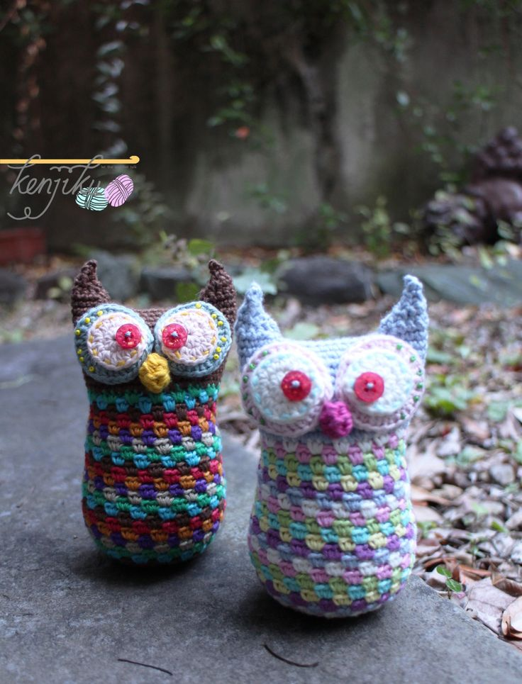 Pedro & Luna the Amigurumi Owl by KenjikuMade on Etsy