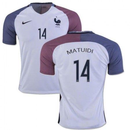 Frankrike 2016 Blaise Matuidi 14 Borte Drakt Kortermet   #billige  #fotballdrakter