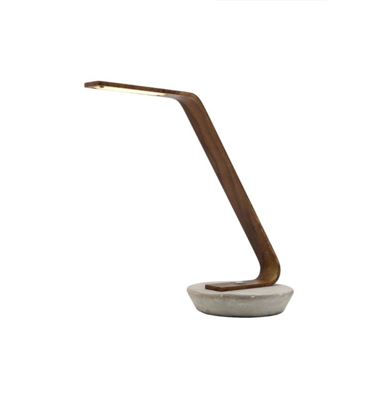 Harrison 5w LED Touch Desk Lamp Timber with Concrete Base Mercator A18811, $129.00