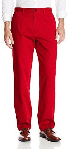$32, Red Chinos: Dockers Texas Tech Game Day Khaki D3 Classic Fit Flat Front Pant. Sold by Amazon.com. Click for more info: http://lookastic.com/men/shop_items/143601/redirect