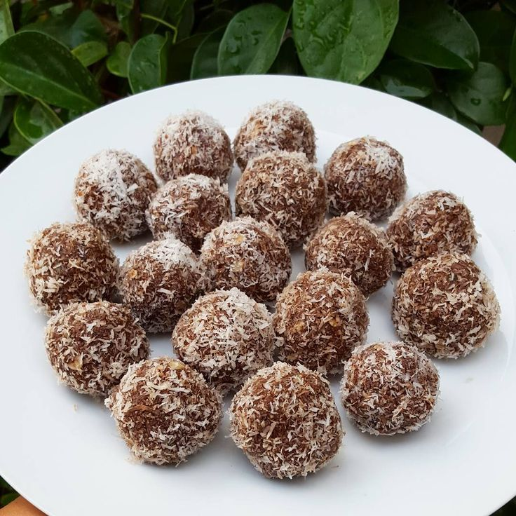 Bliss Balls  1 and 1/3 cups dates  1 cup shredded coconut  1 cup oats  1/2 cup almonds  1/2 cup hemp seeds  1/4 cup cocoa powder  1/4 cup chia seeds  1/4 cup pumpkin seeds  1/4 cup coconut oil  Place all ingredients in a food processor and blend.  Roll into balls and cover with organic shredded coconut. Store in fridge/freezer