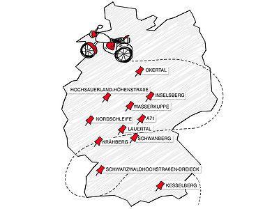Hier sind die 10 coolsten Biker-Strecken! Foto: Auto Zeitung